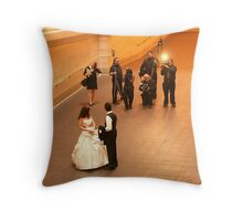 PHOTOGRAPHERS AT WORK Throw Pillow