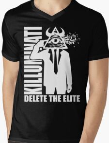 Delete The Elite Mens V-Neck T-Shirt