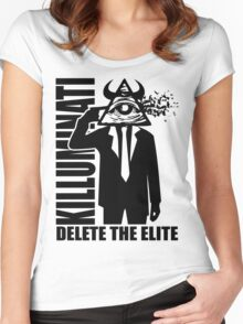 Delete The Elite Women's Fitted Scoop T-Shirt