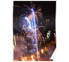 Blue Pyrotechnics Poster