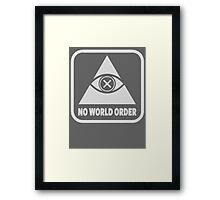 Game Over NWO Framed Print