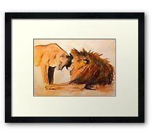 Lions in Love #1 Framed Print