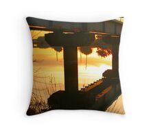 Time Rail Throw Pillow