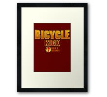 Liu Kang Bicycle Kick Framed Print