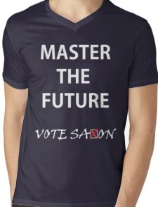 Vote saxon Master the future Mens V-Neck T-Shirt