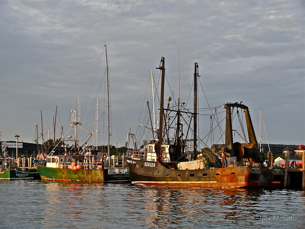 """Fishing Boats"" - Newport Harbor, Rhode Island - © 2009 by Jack McCabe"