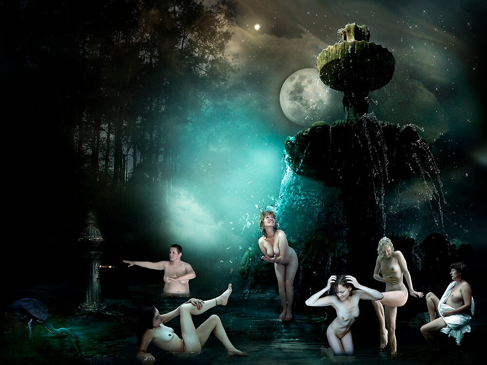 Bathing Goddesses by -Lilith-