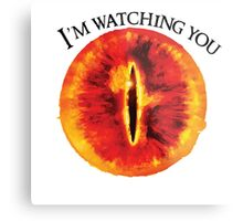 Sauron Is Watching You (Light) Metal Print