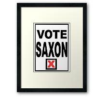 Vote Saxon Framed Print
