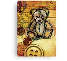 Button bear Canvas Print