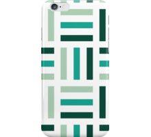 Cute Green and White Geometric Pattern iPhone Case/Skin