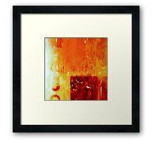 HEAT ON SCREEN Framed Print