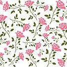 Elegant Pink Roses Pattern Illustration by artonwear