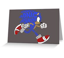 Sonic Typography Greeting Card