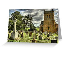 Harlestone Church And War Memorial Greeting Card