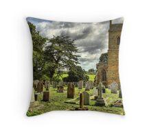 Harlestone Church And War Memorial Throw Pillow