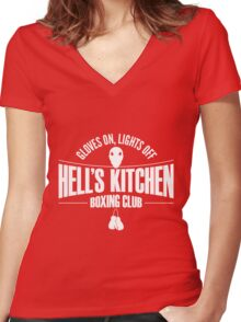 Hell's Kitchen Boxing Club - White Women's Fitted V-Neck T-Shirt