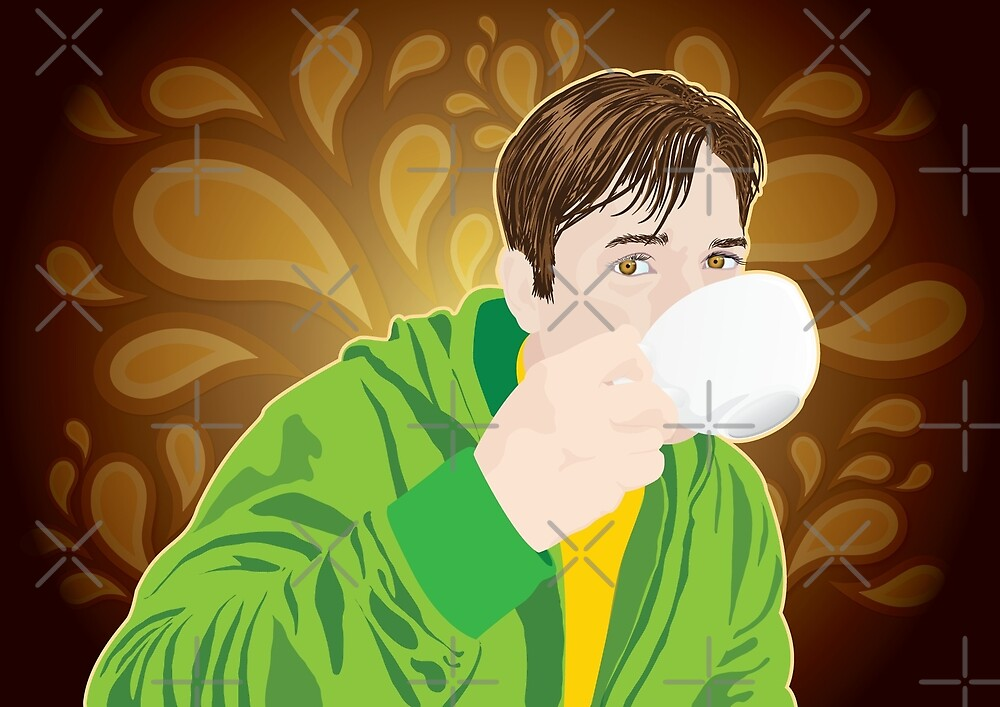 Drinking Coffee by FredzArt