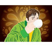 Drinking Coffee Photographic Print