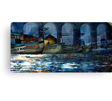 Anchoring in the city Canvas Print
