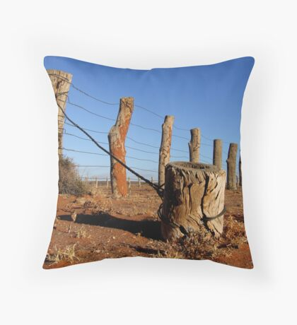 Outback fence Throw Pillow
