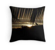 Sunset Sparrow Throw Pillow