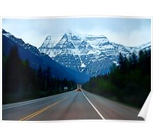 """Mount. Robson Straight  Ahead""  Poster"