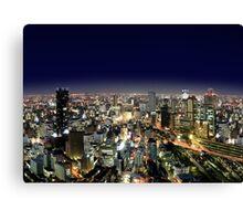 Osaka by Night - Japan Canvas Print