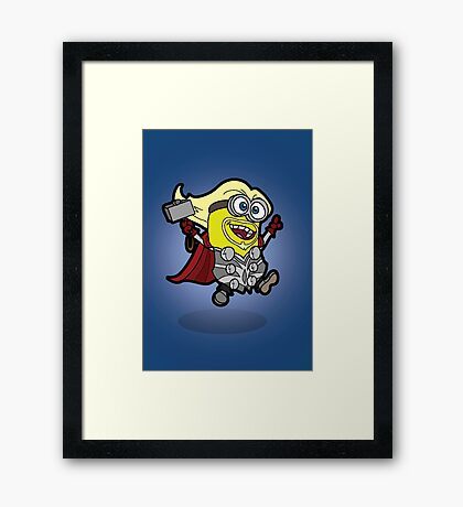 Minions Assemble - Lord of Thunder, Prince of Mingard Framed Print