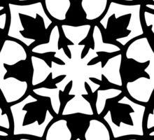taj mahal engraving - papercut pattern Sticker