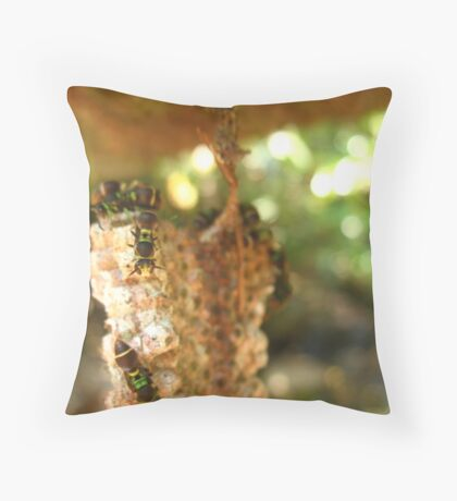 Paper Wasp Throw Pillow