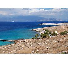 Ftenagia beach, Halki Photographic Print