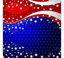 Abstract USA flag Photographic Print