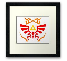 Zelda - Hylian Shield Pattern Framed Print
