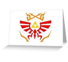 Zelda - Hylian Shield Pattern Greeting Card