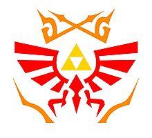 Zelda - Hylian Shield Pattern Photographic Print