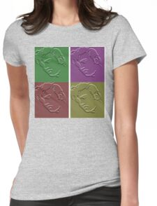 Elvis in Stone Womens Fitted T-Shirt