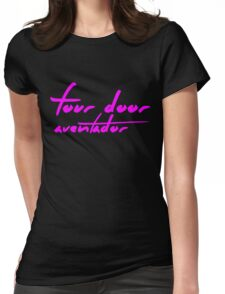 The Pinkprint: Four Door Aventador [Song Titile] Womens Fitted T-Shirt