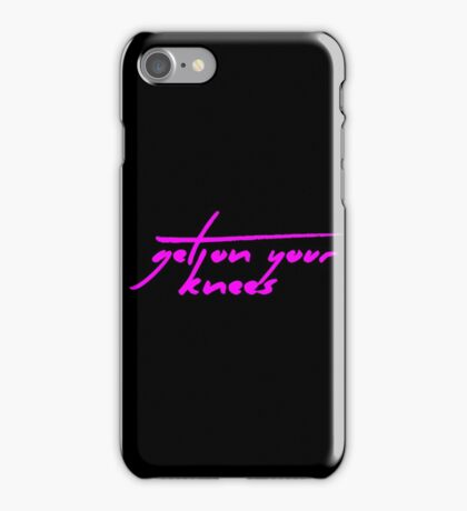 The Pinkprint: Get On Your Knees [Song Titile] iPhone Case/Skin