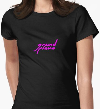 The Pinkprint: Grand Piano [Song Titile] Womens Fitted T-Shirt