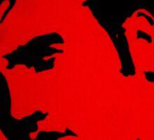 Elvis in Red Satin Sticker