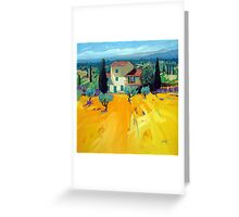 Olive Grove Greeting Card