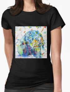 WATERCOLOR DACHSHUND Womens Fitted T-Shirt