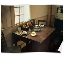 Sunlight on Dining Table Poster