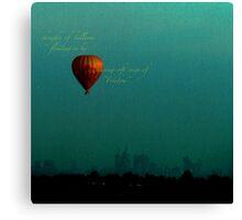 whispering balloon... Canvas Print