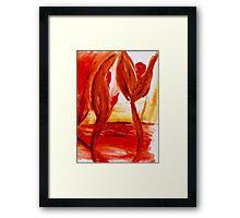 Planet of fire Framed Print