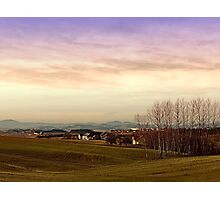 Beautiful panorama under a cloudy sky | landscape photography Photographic Print