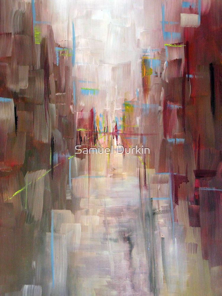 Warm City Skyline Abstract by Samuel Durkin