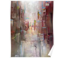 Warm City Skyline Abstract Poster