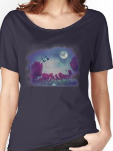 Night Tulips Women's Relaxed Fit T-Shirt